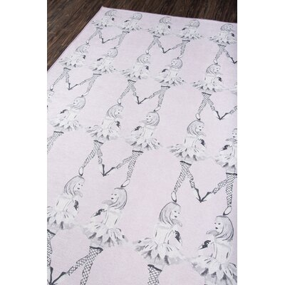 Dancing Girls Lilac Area Rug Rug Size: Rectangle 76 x 96