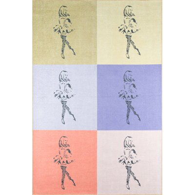 Dancing Girls Area Rug Rug Size: Rectangle 76 x 96