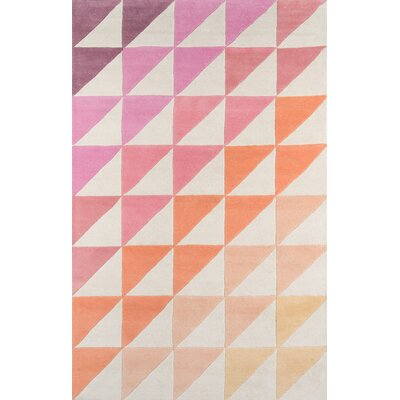 Agatha-Side Hand-Tufted Pink/Brown Area Rug Rug Size: Rectangle 36 x 56
