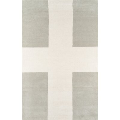 Chevalier Hand-Tufted Gray Area Rug Rug Size: 8 x 10