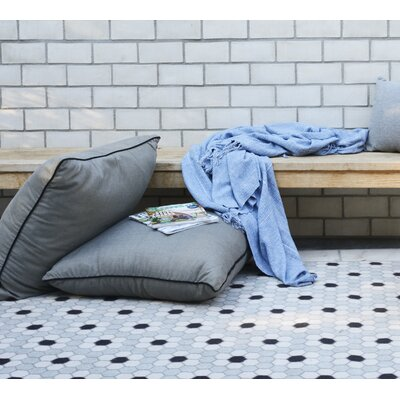 Hex Tile Gray Indoor/Outdoor Area Rug Rug Size: 53 x 76