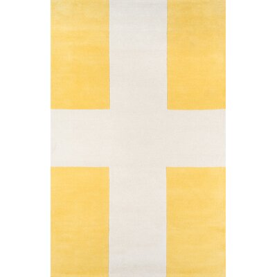 Chevalier Hand-Tufted Yellow Area Rug Rug Size: 5 x 8