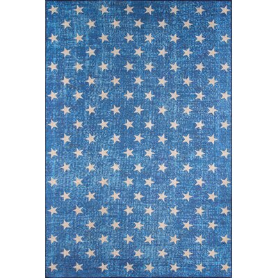 Stars Blue Area Rug Rug Size: Rectangle 76 x 96