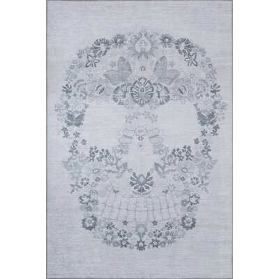 Calavera Gray Area Rug Rug Size: Rectangle 5 x 76