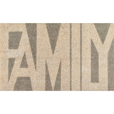 Aloha Family Doormat Color: Gray/Beige
