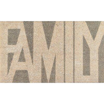 Aloha Family Doormat Color: Gray/Beige