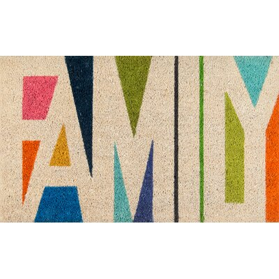 Aloha Family Doormat Color: Beige/Green/Orange