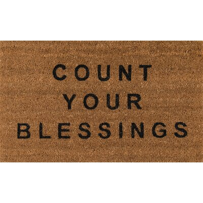Aloha Blessings Doormat Color: Dark Brown/Black