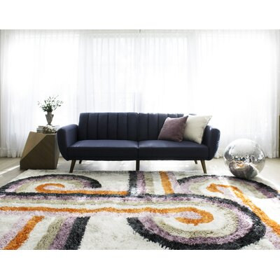 Turnstyle Hand-Tufted Lavender Area Rug Rug Size: Rectangle 36 x 56