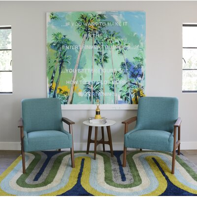 Retro Wave Area Rug Rug Size: 36 x 56