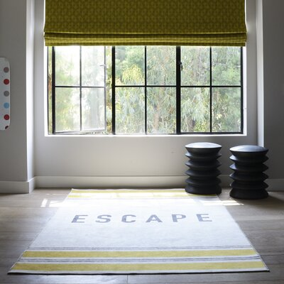 Escape Yellow Area Rug Rug Size: 76 x 96