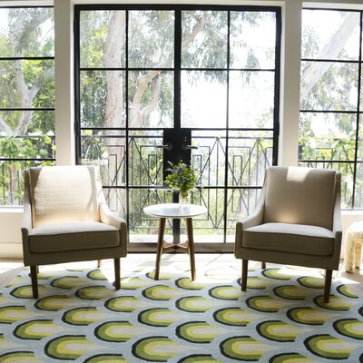 Sunshine Hand-Tufted Blue/Green Area Rug Rug Size: Rectangle 36 x 56