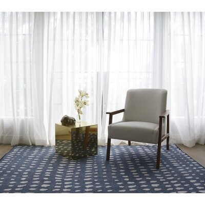 Boho Dots Hand-Tufted Blue/Ivory Area Rug Rug Size: Rectangle 36 x 56