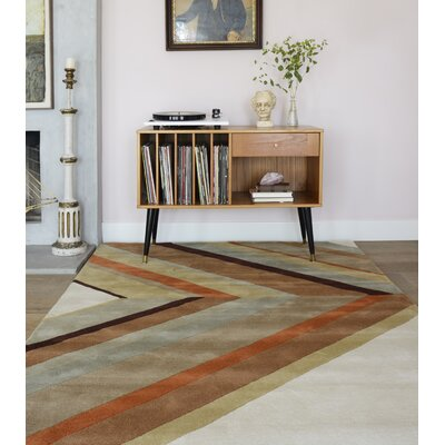 Ultralight Hand-Tufted Brown Area Rug Rug Size: Rectangle 5 x 8