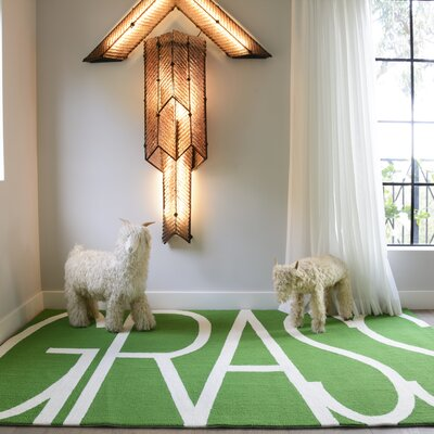 Grass Green Area Rug Rug Size: Rectangle 8 x 10
