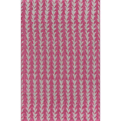 Amalfi Fuschia Indoor/Outdoor Area Rug Rug Size: Rectangle 53 x 76