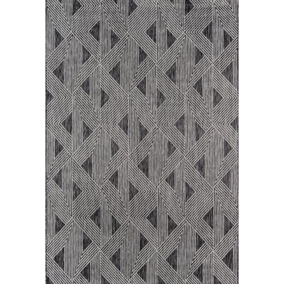 Sardinia Charcoal Indoor/Outdoor Area Rug Rug Size: Rectangle 53 x 76