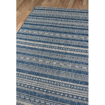 Tuscany Blue Indoor/Outdoor Area Rug Rug Size: Rectangle 33 x 5
