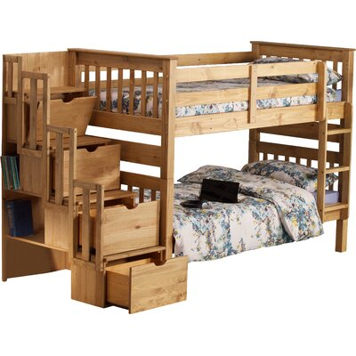 Franky Single Bunk Bed Bed Frame Color: Waxed