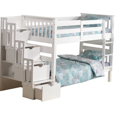 Franky Single Bunk Bed Bed Frame Color: White