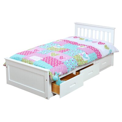 Single Cabin Mates & Captains Bed Frame with Storage Bed Frame Color: White