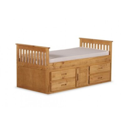 Single Mates & Captains Bed with Storage Bed Frame Color: Waxed Pine