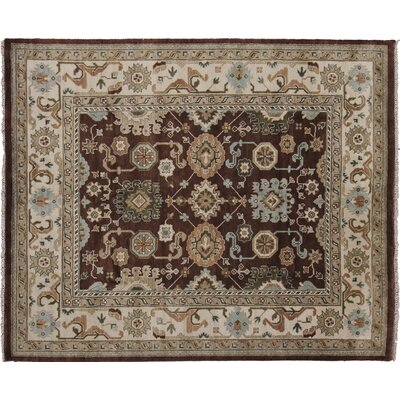 Bellview Hand-Knotted Rectangle Wool Brown Area Rug