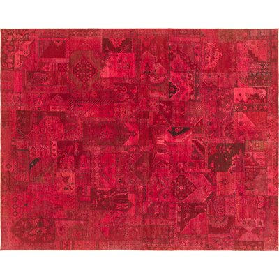 Bellview Hand-Knotted Wool Red Area Rug