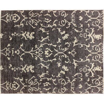 One-of-a-Kind Bellview Hand-Knotted Black Area Rug