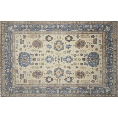 One-of-a-Kind Bellview Oriental Hand-Knotted Rectangle Ivory Area Rug