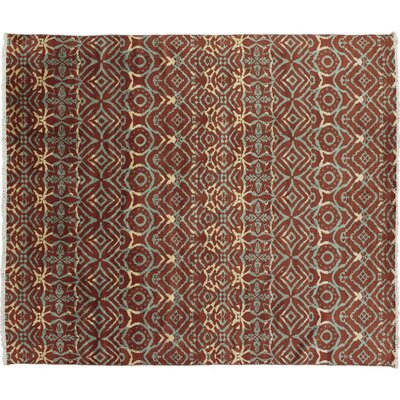Bellview Hand-Knotted 100% Wool Rust Area Rug