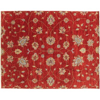 One-of-a-Kind Bellview Hand-Knotted Red Area Rug