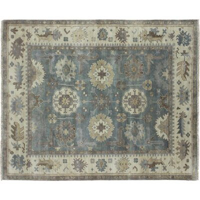Bellview Floral Hand-Knotted Green Area Rug