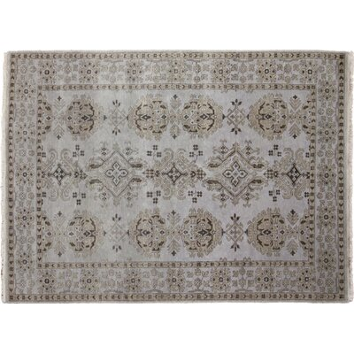 Bellview Hand-Knotted Premium Wool Blue Area Rug
