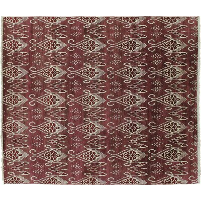 Bellview Oriental Hand-Knotted Wool Rust Area Rug