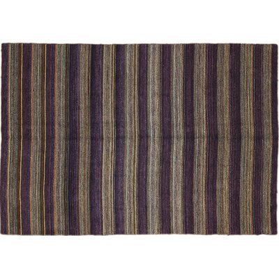 Oushak Sattar Hand-Knotted Purple Area Rug