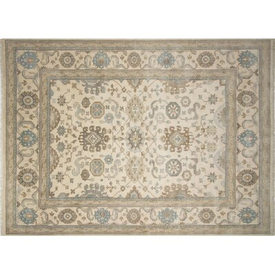 Bellview Oriental Hand-Knotted Wool Ivory Area Rug