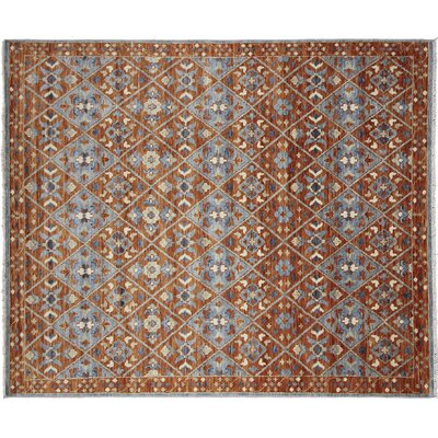 Bellview Hand-Knotted Rectangle Wool Rust Area Rug