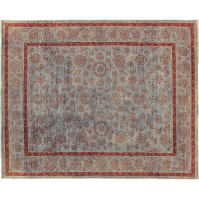 One-of-a-Kind Bellview Hand-Knotted Wool Blue Area Rug