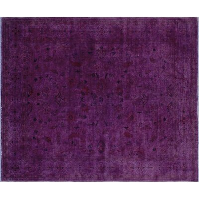 Overdyed Aamir Hand-Knotted Purple Area Rug
