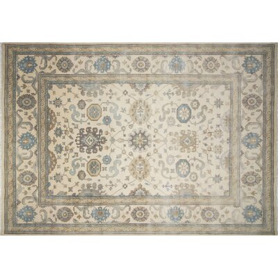 One-of-a-Kind Bellview Hand-Knotted Rectangle Ivory Area Rug
