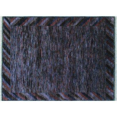 Overdyed Aasim Hand-Knotted Purple Area Rug