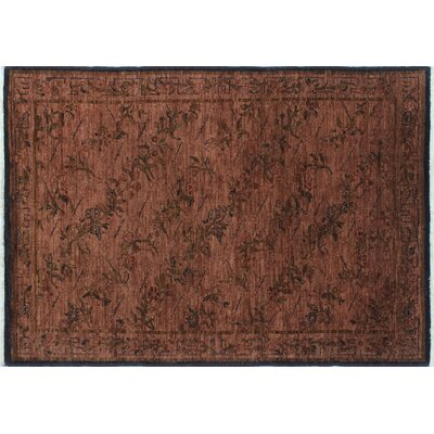 One-of-a-Kind Overdyed Abid Hand-Knotted Brown Area Rug