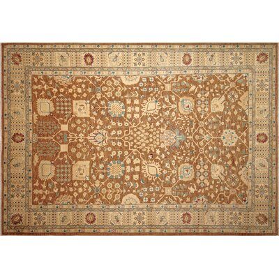 One-of-a-Kind Leann Hand-Knotted Chocolate Indoor Wool Area Rug