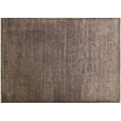 One-of-a-Kind Overdyed Lindsay Hand-Knotted Aubergine Area Rug