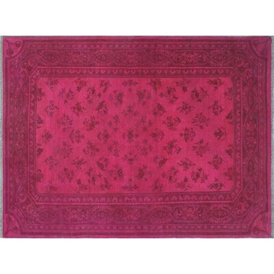 Overdyed Affan Hand-Knotted Pink Area Rug