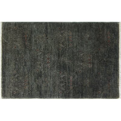 Overdyed Daniya Hand-Knotted Gray Area Rug