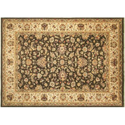 Leann Hand-Knotted Rectangle Chocolate Indoor Area Rug
