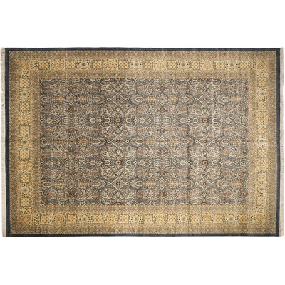 Pak-Persian Amal Hand Knotted Wool Light Blue Area Rug Rug Size: Rectangle 1111 x 179