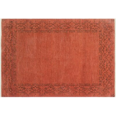 One-of-a-Kind Overdyed Zulfia Hand-Knotted Rust Area Rug